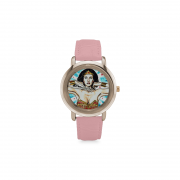 Rose Gold Plated Leather Strap Watch